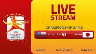 USA v Japan - U-19 Women's Softball World Cup 2019 - World Championship Final
