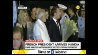 WION Breaking: French President arrives in India