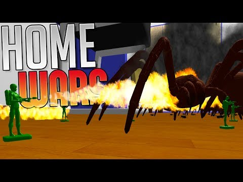 Home Wars - Giant Bugs vs Green Army Men - Army Men Battle Sim - Home Wars Gameplay Highlights
