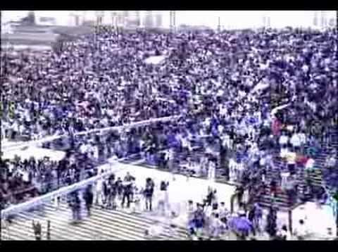 Racing vs. Amargos el dia del avion Gol de Allegue