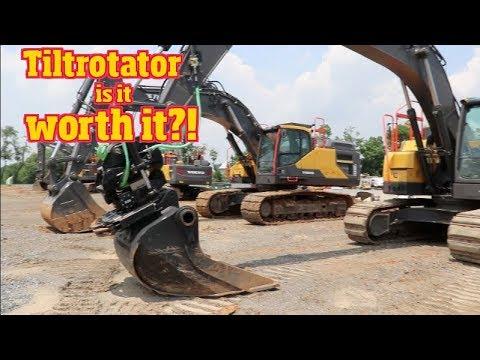 Tiltrotator at work benefits & drawbacks