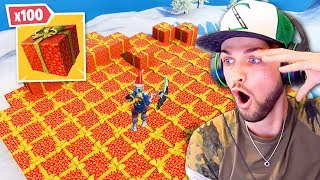Opening x100 *NEW* CHRISTMAS PRESENTS in Fortnite!