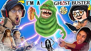 GHOST BUSTERS In REAL LIFE!!  Slimer no like Party in Elevators + FGTEEV DUDDY in Gurkey GAME?