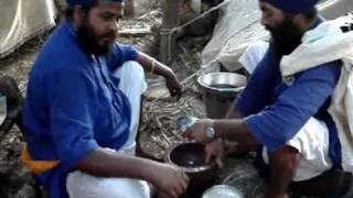 Nihang Singhs Preparing SARDAI