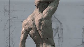 Live demo 2 – anatomy Male Andrew Cawrse - clay figure sculpture