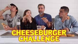 Cheeseburger Eating Challenge   David Lopez