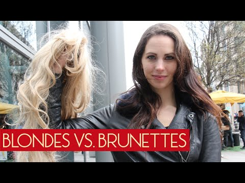 Blondes Vs. Brunette (Social Experiment)