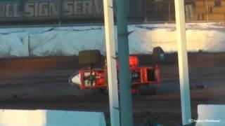 Darryl Campbell & Toby Bell-Bowen Crash/Fight- Sydney Speedway 24-3-12