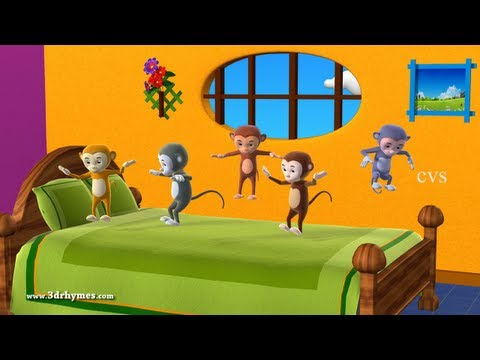 Xxx Mp4 Five Little Monkeys Jumping On The Bed 3D Animation English Nursery Rhyme For Children 3gp Sex