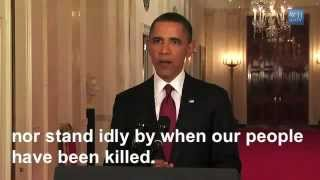 Obama's Speech on Death of Osama bin Laden SUBTITLES May 1 2011