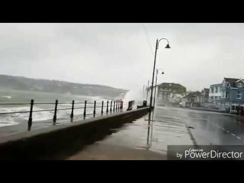 STORM DORIS takes hold in Penzance, Cornwall England