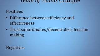 Complexity Leadership Theory and Team of Teams