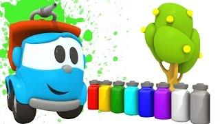 Pequeño Leo - Colores - Leo y Lifty - Carritos para niños - Camiones infantiles