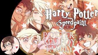 (Drarry/Harry Potter) The Potter Malfoy Family 【Speedpaint】