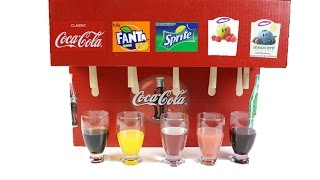 How to Make Coca Cola Soda Fountain Machine with 5 Different Drinks at Home