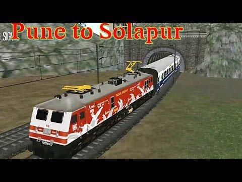 Pune to Solapur with amul wap5 update 1.7 | indian train simulator