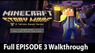 Minecraft Story Mode Episode 3 Full Walkthrough NO Commentary