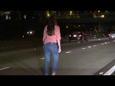 She s Lost Drunk Woman Pees & Stumbles In The Middle Of The I 15 Freeway In San Diego
