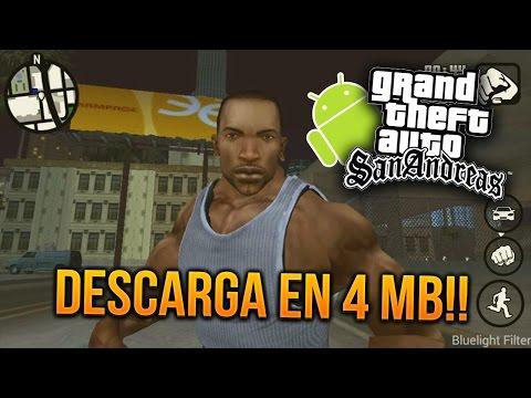 DESCARGA GTA SAN ANDREAS EN SOLO 4 MB!!! APK ANDROID