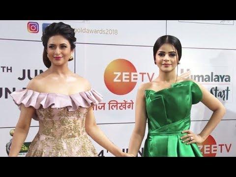 Xxx Mp4 Divyanka Tripathi Jigyasa Singh Thapki Arrive At 11th Gold Awards 2018 3gp Sex
