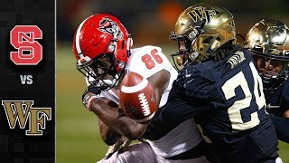 NC State vs. Wake Forest Football Highlights (2017)