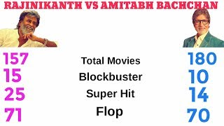 Rajinikanth Vs Amitabh Bachchan Comparison (2017) Net Worth, Hit And Flop, Total Movies List.