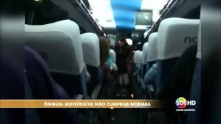 Falta de segurança em ônibus de SC - Letícia Bohrer/Rhuan Fernandes/André Viero