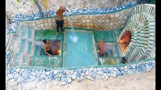Build Most Beautiful Swimming Pool & Underground Way
