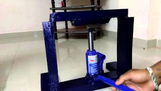Hydraulic jack operated bending machine by Hasan Jahagirdar