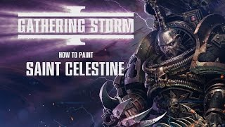 How to paint: Saint Celestine.