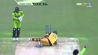 Saeed Ajmal 3 Wickets Vs Aus 2010