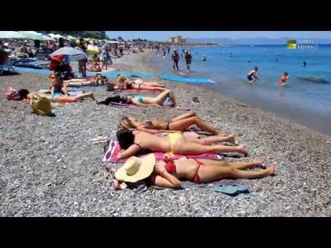 Rhodes city Beach Greece June 2016