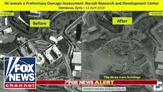 Satellite images appear to show Syria strike hit target