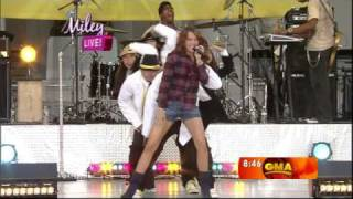 miley cyrus  fly on the wall hq hd live on abc good morning america