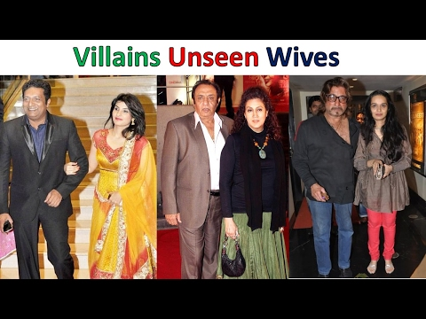 Bollywood Villains and their unseen wives