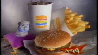 Burger King Kid's Meal Ad - 1996