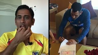 Ms Dhoni Signing Contract for Chennai Super Kings in Ipl 2018