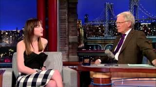 David Letterman interviu cu Dakota Johnson despre Cele 50 de umbre ale lui grey