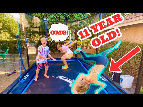 TRAMPOLINE CHALLENGE WITH GAVIN MAGNUS AND COCO QUINN