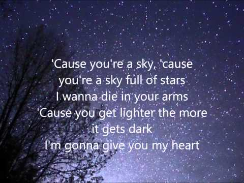 A Sky Full of Stars Coldplay - Lyrics