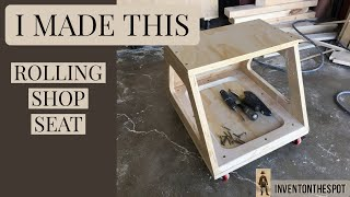 How to Build a Rolling Shop Stool | practical garage solution