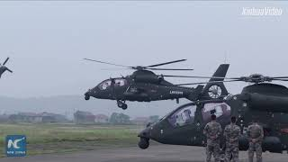 Exclusive: Watch how Chinese army, navy and air force conduct training