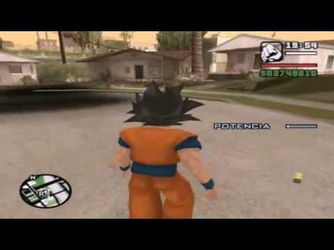 Cj descubre que es el hermano perdido de Goku LOQUENDO Gta San andreas
