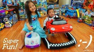 Baby's Toys: Baby's Walker, Marxlen's Volks Wagen Beetle Walker w/ Lights, Sounds and Music
