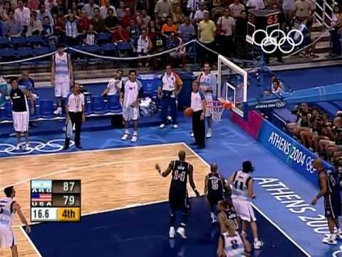 Xxx Mp4 Argentina Shock USA In Men S Basketball Athens 2004 Olympics 3gp Sex
