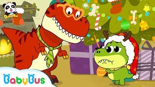 Baby Dinosaur Wanna See Santa Claus | OPENING PRESENTS! 🎁 |  Christmas Songs | Christmas | BabyBus