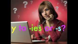how to spell: y to -ies or -s plural spelling rule