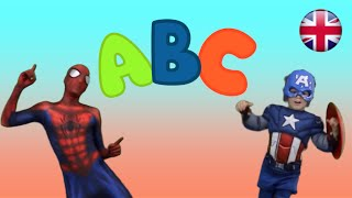 Alphabet Song with Spiderman & Captain America - Kids Song