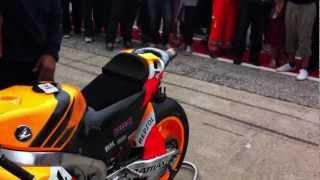TERMIGNONI - MotoGP 2012: Dani Pedrosa's Honda RC213V warming up