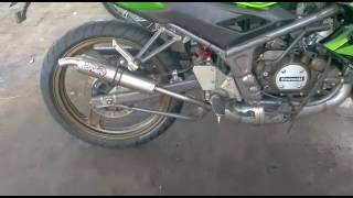Test Sound Knalpot Proliner TS Stainless Fullsystem on Kawasaki Ninja 150 RR 2T